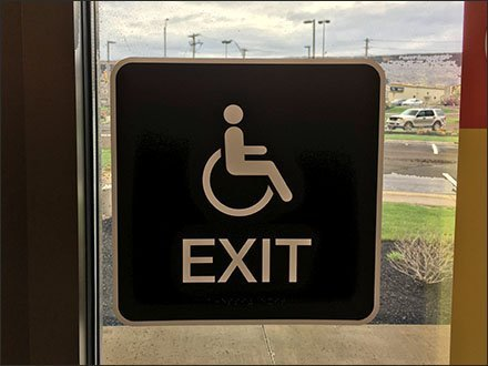 Handicapped Exit Not Handicapped Entrance