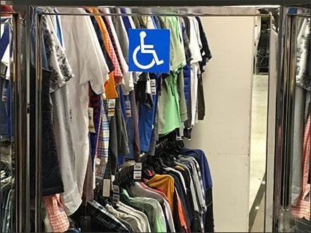 Reserved Handicapped Mirror Macys Retail Amenity