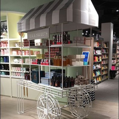 Tea and Sweets Cart at Indigo Bookstore