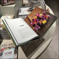 Indigo Table-Top Acrylic Book Holder Feature