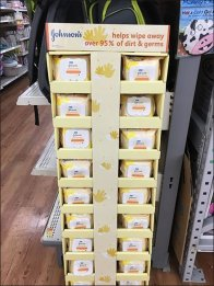 Johnson's Baby Wipes Corrugated Floor Display