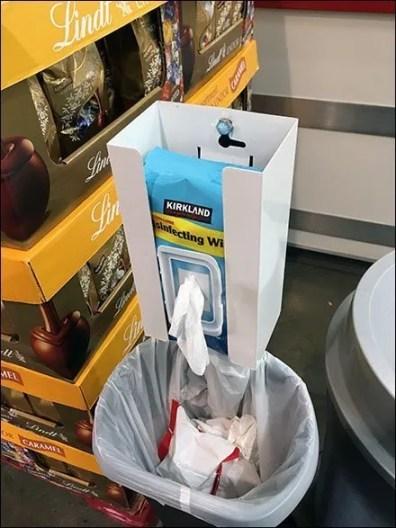 Kirkland Sanitary Wipes and Waste Disposal
