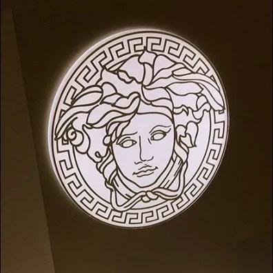 Versace's Medusa Counter-Top Fragrance Display