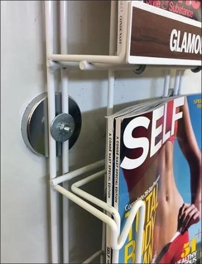 Magnetic Magazine Rack Literature Holder