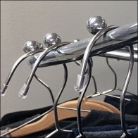 Mercedes Benz Ball-Stopped Apparel Rack