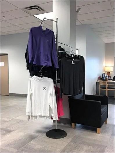 Mercedes Benz T-Shirt Spiral Rack Display