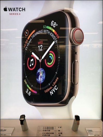 Minimalist Apple Watch Freestanding Exhibit