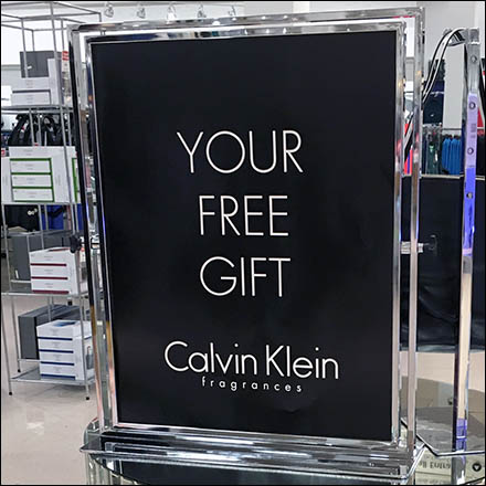 Mirrored Table Top Calvin Klein Free Gift Display Feature