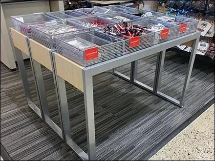 Square Perforation Table-Top Bulk Bin Display