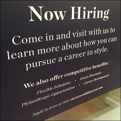 Ralph Lauren Visit With Us Hiring Invitation