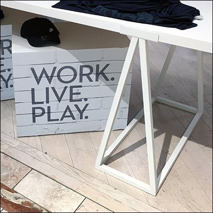 White Sawhorse Work Live Play Display