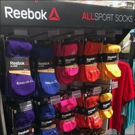 Reebok Sport Socks Corrugated Tower Display