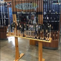 St. Croix Fishing Pole Freestanding Rack