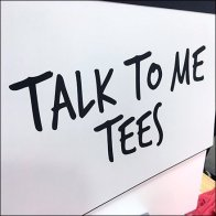Talk-To-Me Tees T-Shirt Display Signage