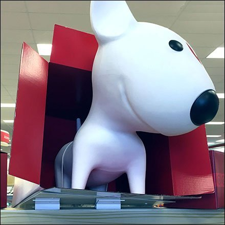 Target Bullseye Mascot Display Anchors Feature