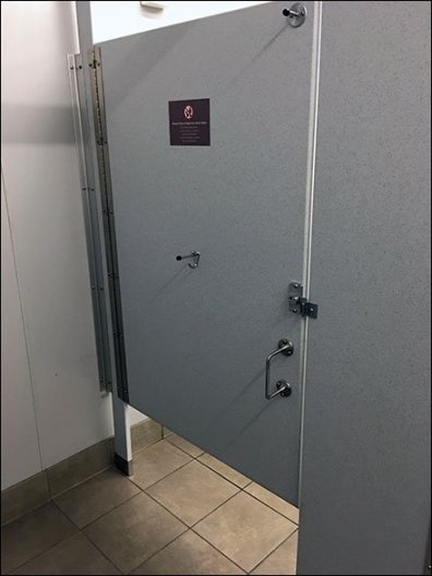 Wheelchair Height Restroom Stall Handle Position