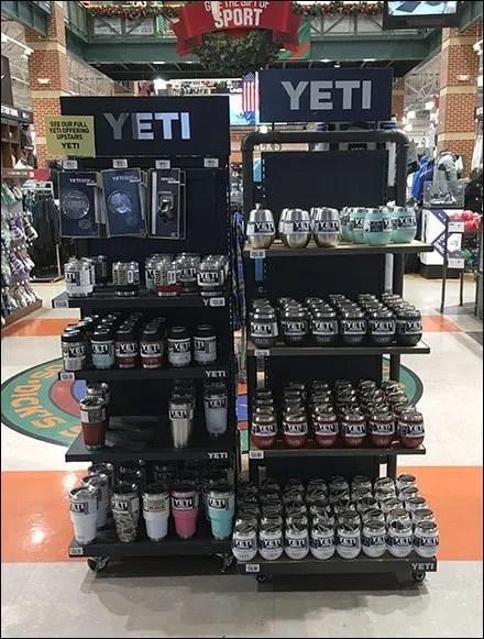 Yeti Premium Drinkware Twin Tower Display