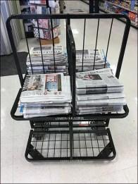 Multi-Sided Newspaper Rack