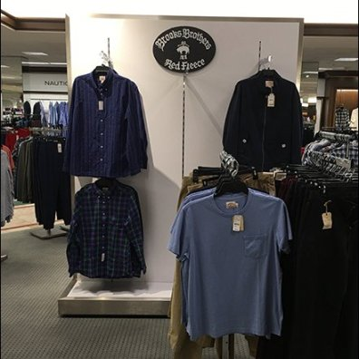 Brooks Brothers Branded Apparel Display