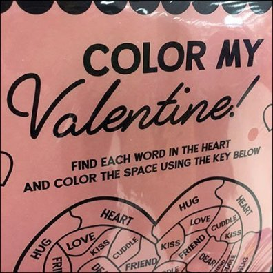 Color My Valentine Greeting Card Hook