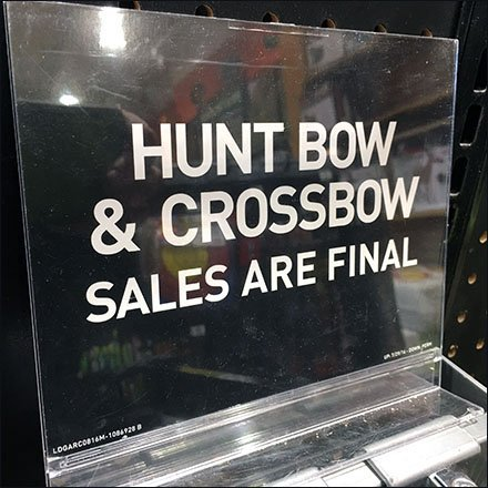 Dicks Bow and Crossbow Sales Are Final Acrylic Sign Holder Feature