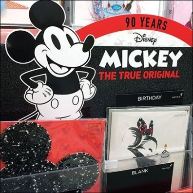 Disney Mickey Mouse 90th Anniversary Greeting Card Display Feature
