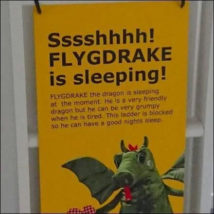 Beware Sleeping Dragon IKEA Danger Sign