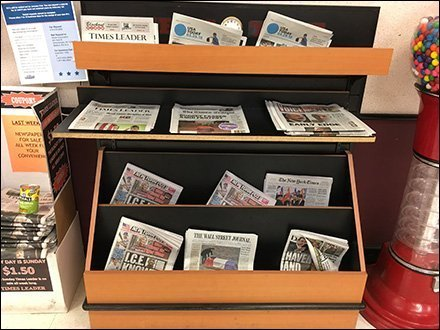 Two-Way Facing Newsstand