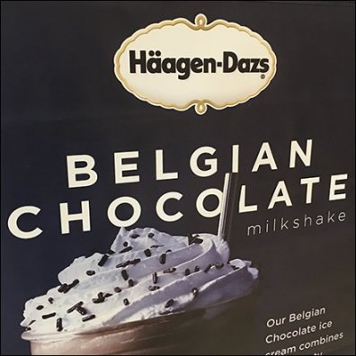 Haagen Dazs Mall Concourse Advertising Sign Feature