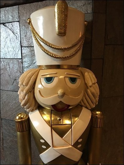 Giant Nutcracker Guards Hospitality Retail