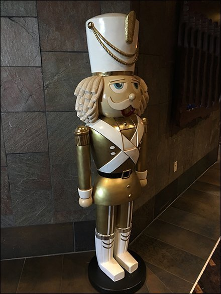 Giant Nutcracker Guards Hospitality Retail