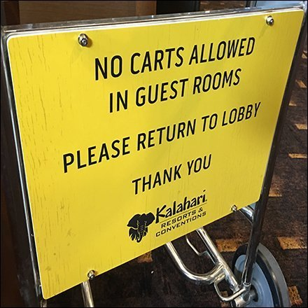 Shopping Carts Not Permitted In Hotel Rooms