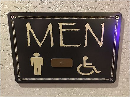 Kalahari Resort Men's Restroom Sign