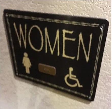 Kalahari Resort Womens Restroom Sign Feature