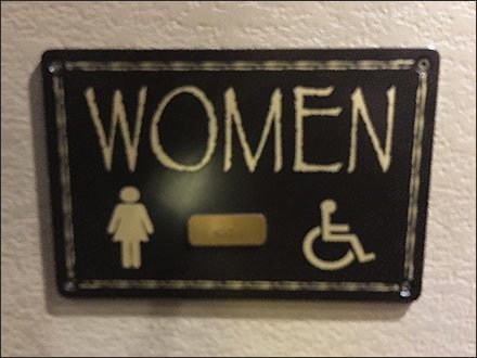 Kalahari Resort Ladies Restroom Sign
