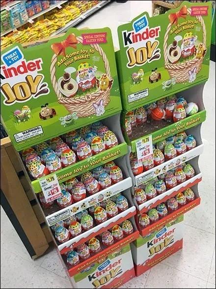 Kinder Joy Merchandising Displays - Kinder Joy Easter Edition Dual Display
