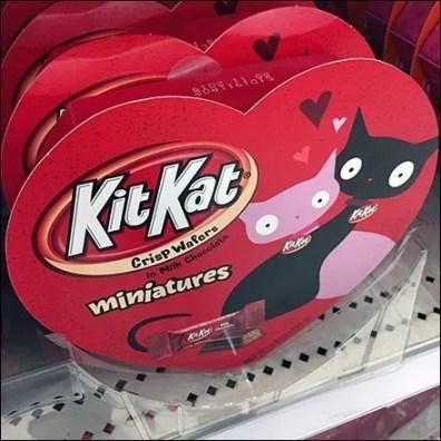 Heart-Shaped Kit Kat Valentine's Day Promo