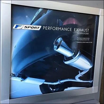 Lexus F-Sport Performance Exhaust Display