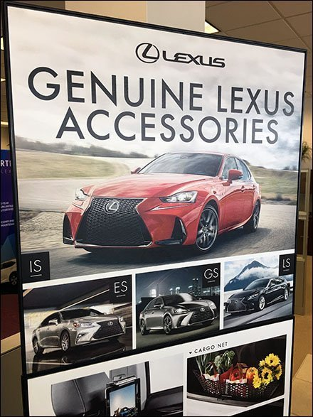 Lexus Genuine Accessories Floorstand Sign