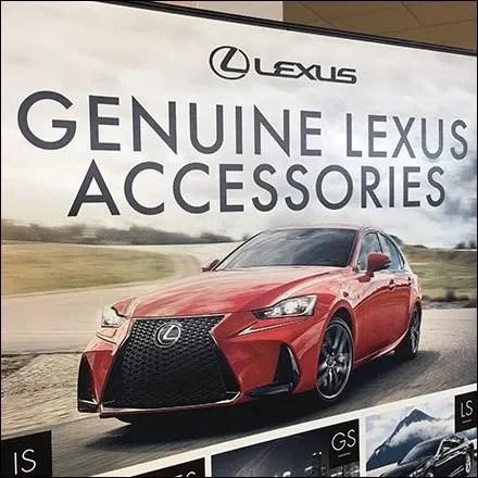 Lexus Genuine Accessories Floorstand Sign