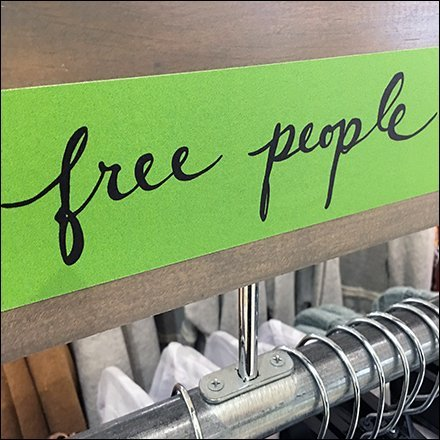 Free People Bolt-On Hangrail Sign Stand