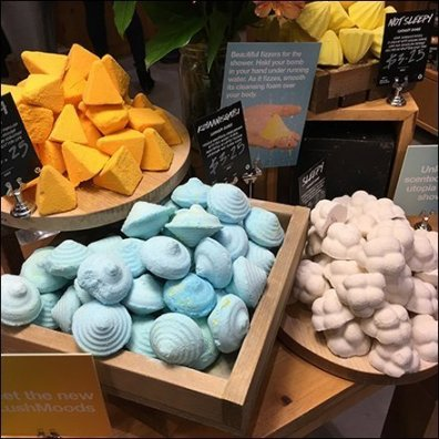 Lush Table-Top Visual Merchandising