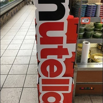 Nutella Freestanding Tower Display 2