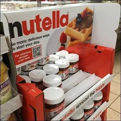 Nutella Freestanding Tower Display Main