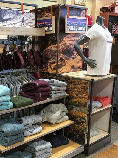 Patagonia Brand Display Sign On Belay