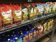 Russian Mayonnaise Pouch Merchandising