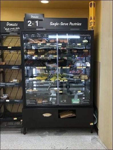 Single-Serve Pastries Glass Door Cabinet