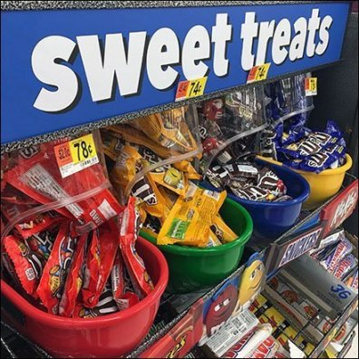 Sweet Treats Gravity Feed Candy Display