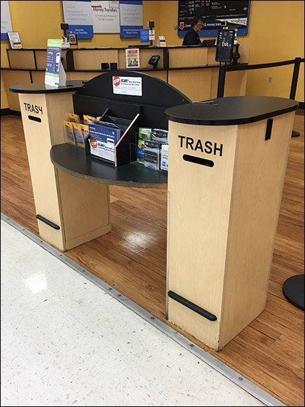 Twin Trash Receptacle Mail Slot Depository