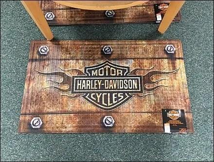 Bolt-Down Harley Davidson Floor Mat